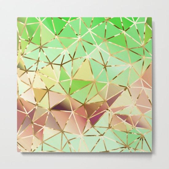 Rainbow Geometric Pattern #1 Metal Print