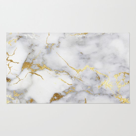 Gold And White Marble : Italian gold marble rug by lostfog co society