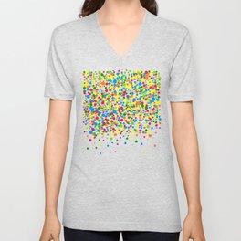 Rain of colorful confetti Unisex V-Neck