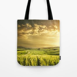 dusk in val d'orcia Tote Bag