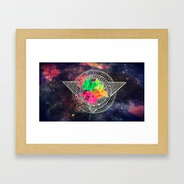 Space Mandala Framed Art Print