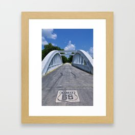Rainbow Curve Bridge Framed Art Print