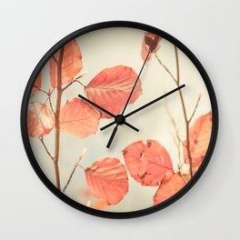 Simply Leaves Wall Clock
