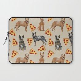 Australian Cattle Dog pizza slice pet friendly dog breed dog pattern art Laptop Sleeve