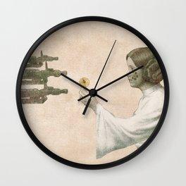 Flowers for Alderaan Wall Clock