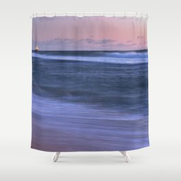 Sunset Beach Ocean Scenic Print Shower Curtain