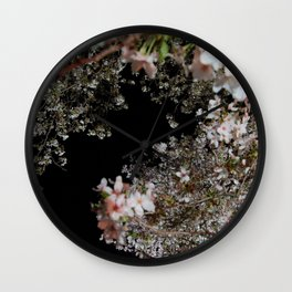 blossom by night Wall Clock