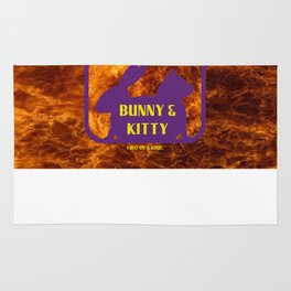 Bunny and Kitty Very Best Friends Rug