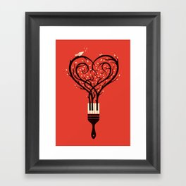 Paint Your Love Song Framed Art Print