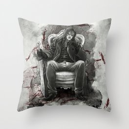 The half breed Mr. Quinlan Throw Pillow