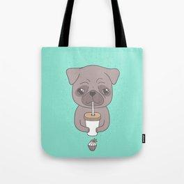 Pug, coffee & cupcake Tote Bag