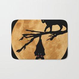 Halloween - Moon (The Cat and the Bat) Bath Mat