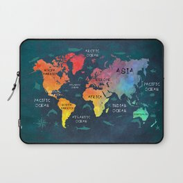 world map 49 color Laptop Sleeve
