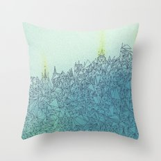 A Quiet Raft Throw Pillow