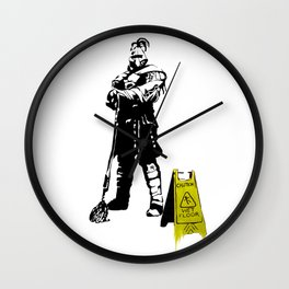 Every day heroes - Mop Champion Wall Clock