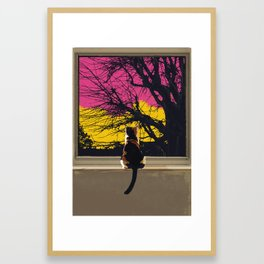 The Cat Knows.... Framed Art Print