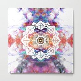 Nature Atmospheric Mandala10 Metal Print