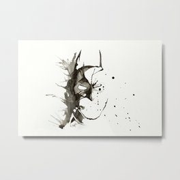 TDK - Mask - Watercolor Splatter Artwork Metal Print