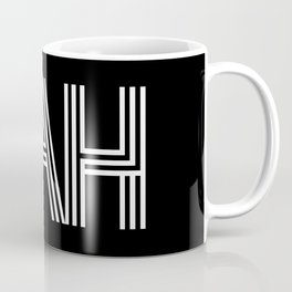 NAH (white on black background) Coffee Mug