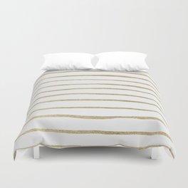 Gold Stripes Duvet Cover