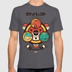 Pocket Monster Trainer MEDIUM Asphalt Mens Fitted Tee