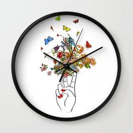 Girl Power - Peace Wall Clock