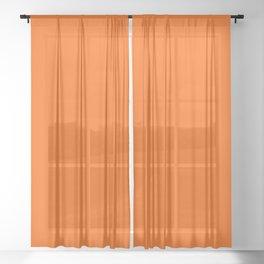Solid Orange Sheer Curtain