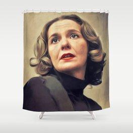 Geraldine Page, Vintage Actress Shower Curtain
