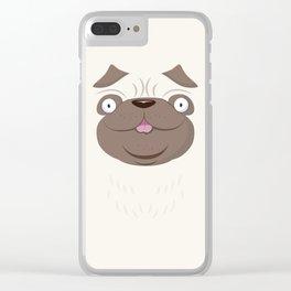 Koko Pug Clear iPhone Case