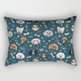 puppy party repeating pattern Rectangular Pillow