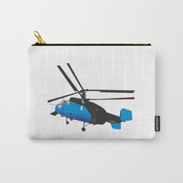 Black and Blue Helicopter Carry-All Pouch