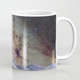 Sagitario, Scorpio and the star Antares over the hight mountains Coffee Mug