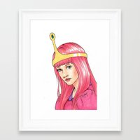 princess bubblegum Framed Art Prints featuring Princess Bubblegum by MichelleLynne