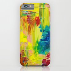 GOING THROUGH THE MOTIONS -  Stunning Saturated Bold Colors Modern Nature Abstract iPhone 6s Slim Case
