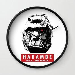 Harambe Will Be Back Wall Clock