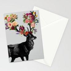 Spring Itself Deer Floral Stationery Cards