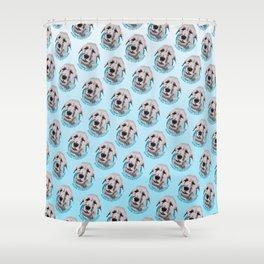 Irish Wolfhound Print Shower Curtain