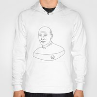 picard Hoodies featuring Captain Jean-Luc Picard by lunsh