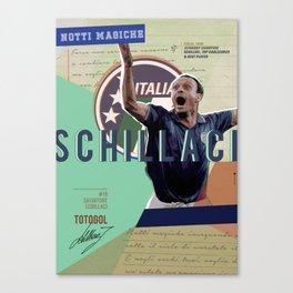 #19 Schillaci // World Cup • Football Stars  Canvas Print