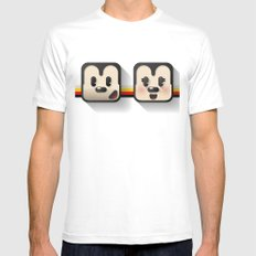 sweethearts, mickey and minnie MEDIUM Mens Fitted Tee White