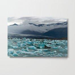 Glacial lake Jokulsarlon - Iceland Metal Print