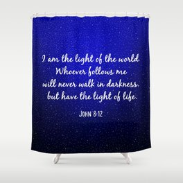 Light of the World - Bible Verse Galaxy Version Shower Curtain