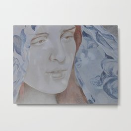Ava (Blue) Metal Print