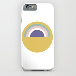 Rainbow and sun iPhone Case