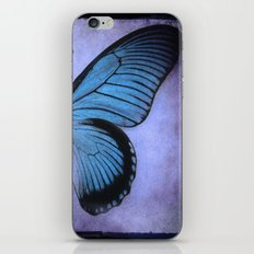 Butterfly Wing of Blues iPhone & iPod Skin