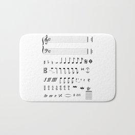 Musical Notation Bath Mat