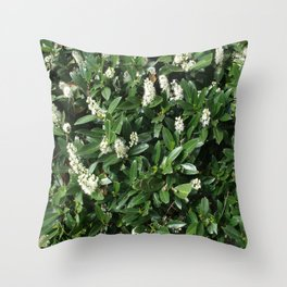 green/white Throw Pillow