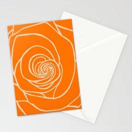 Orange Rose Drawing Stationery Cards