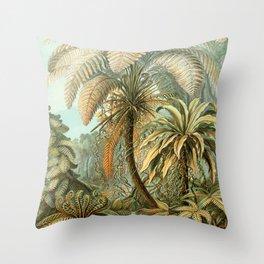 Vintage Tropical Palm Throw Pillow