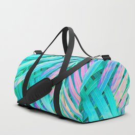 Palms Green Pink Duffle Bag